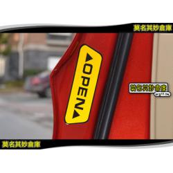 莫名其妙倉庫【AG018 車門開警示貼】福特 Ford New Fiesta 小肥精品配件空力套件